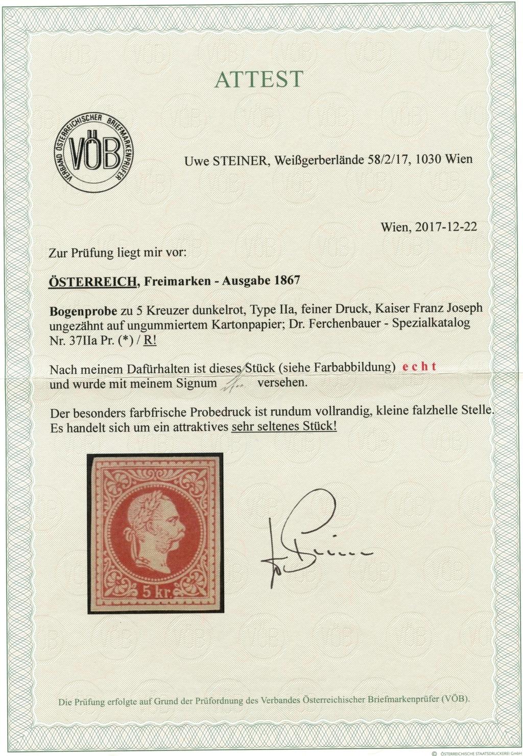 Freimarken-Ausgabe 1867 : Kopfbildnis Kaiser Franz Joseph I - Seite 20 37_iia10