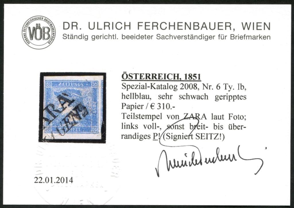 DIE ZEITUNGSMARKEN AUSGABE 1851 Ib_sch13