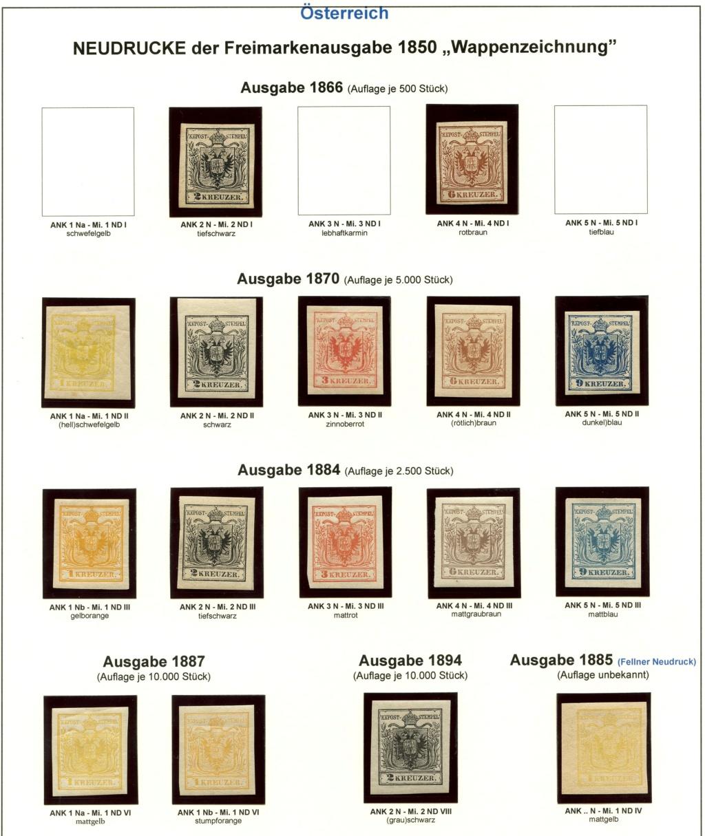 Die Neudrucke der Österreichischen Postwertzeichen-Ausgaben 1850-1864 Z_185010