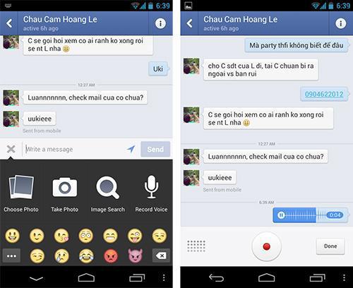 Facebook Messenger cho phép gửi tin nhắn âm thanh 13572810