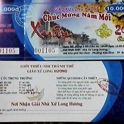Vé Số Mừng Xuân-Ủng Hộ Giới Thiếu Nhi các Giáo Xứ 58258510