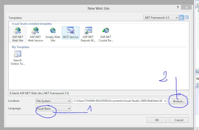Tạo một Website với ASP.NET trên VS 2008 Captur13