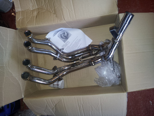 Fitted new downpipes. 20130110