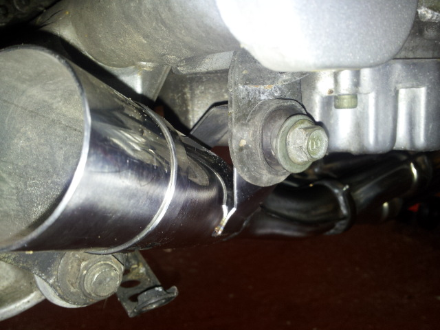 Fitted new downpipes. 20130115