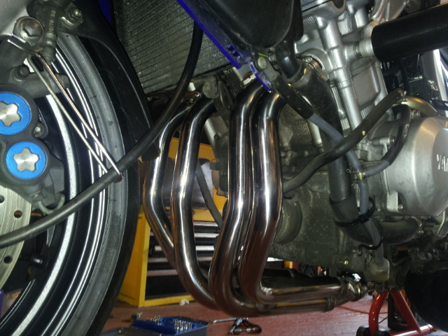 Fitted new downpipes. 20130119