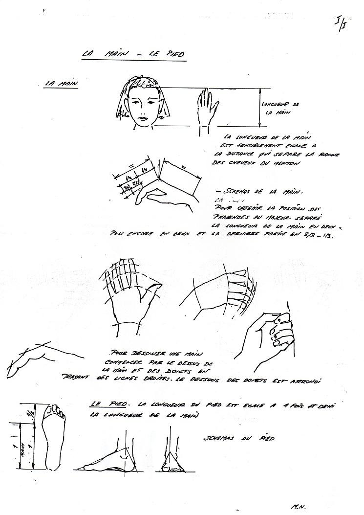 Dessiner la main - le pied (cours de Marc Noury) Lamain10