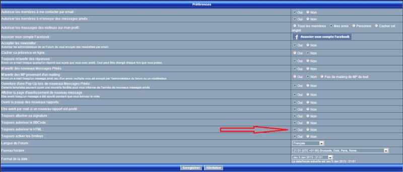 Soucis avec le html dans mes messages sur le forum Profil12