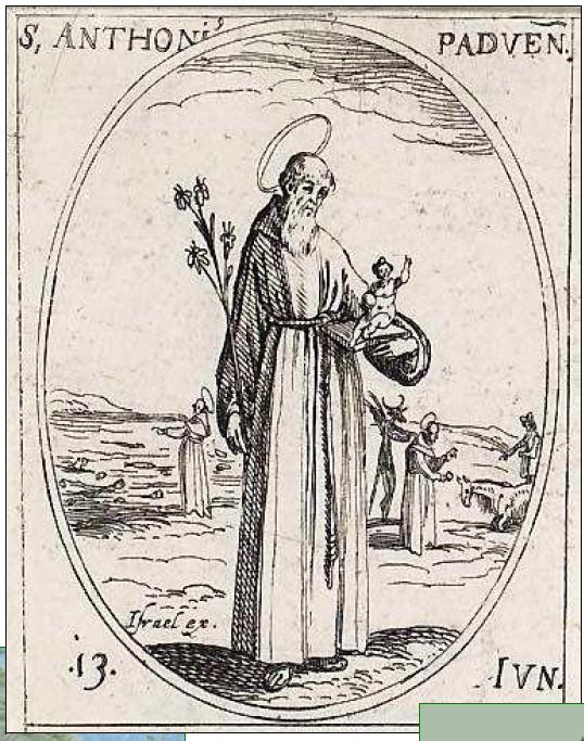 Médaille Vierge à l'enfant - entre 1600 et 1625 - et St-Antoine-de-Padoue Antpad10