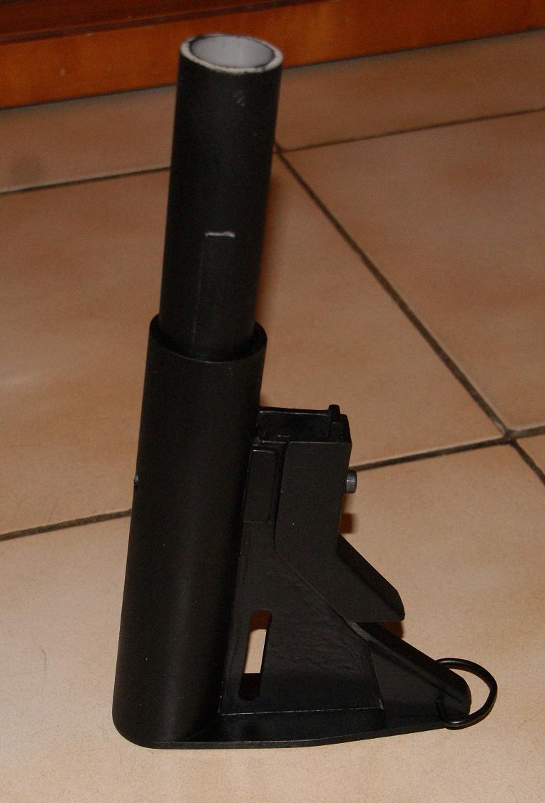 Tuto Fabriquer une crosse de type M4 en PVC Montag90