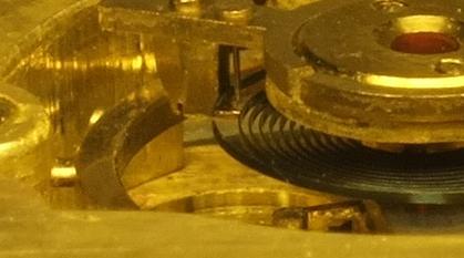blocage d'une montre mécanique Dard10