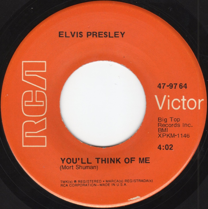 Suspicious Minds / You'll Think Of Me Img04210