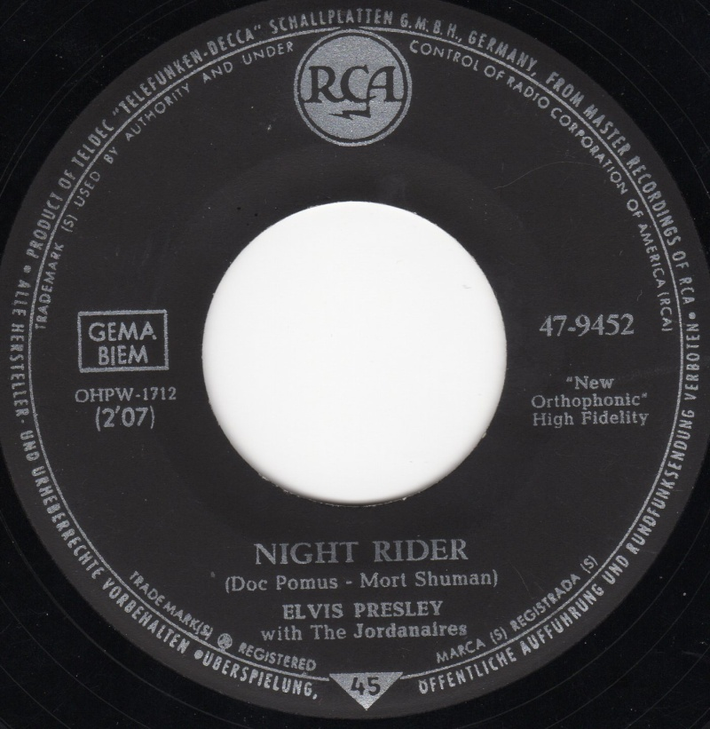 Kiss Me Quick / Night Rider Img04610