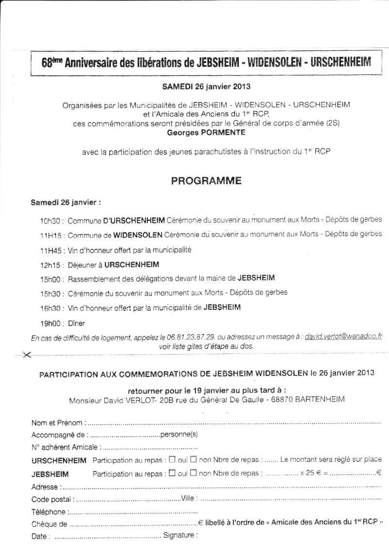 68e anniversaire de la libération des communes de Jebsheim, Widensolen et Urschenheim par le 1er RCP Jebshe10