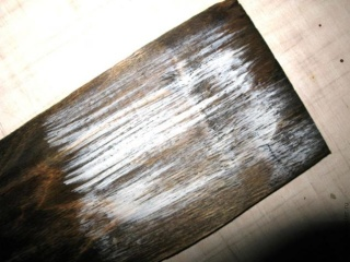 МК - состаренный фон под вживление лазерной распечатки. 13011415