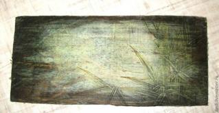 МК - состаренный фон под вживление лазерной распечатки. 13011428