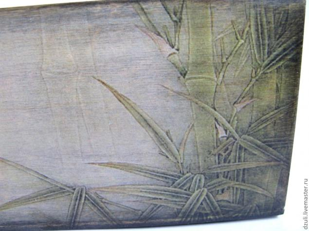 МК - состаренный фон под вживление лазерной распечатки. 13011430