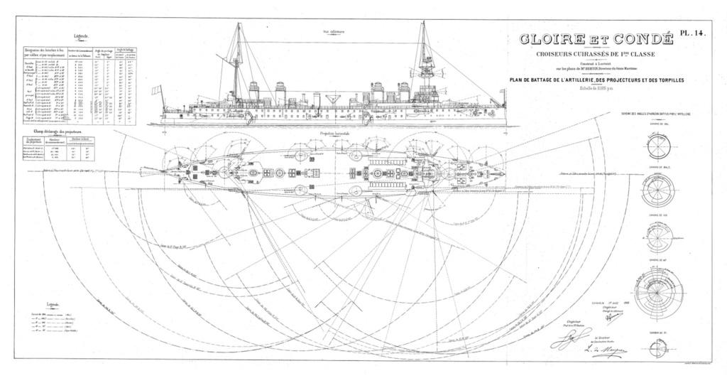 Plan de battage de l'artillerie navale (Marine Nationale) Conde110