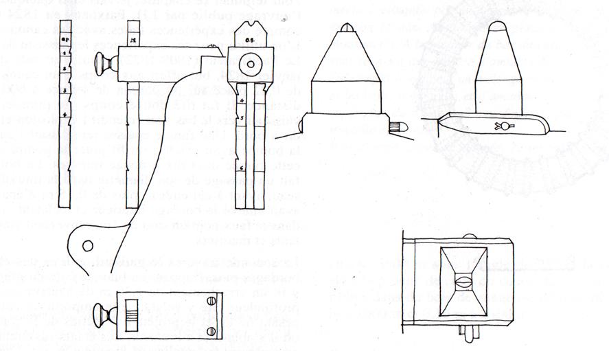 système de visée sur l'artillerie navale de 1786 Mire__10