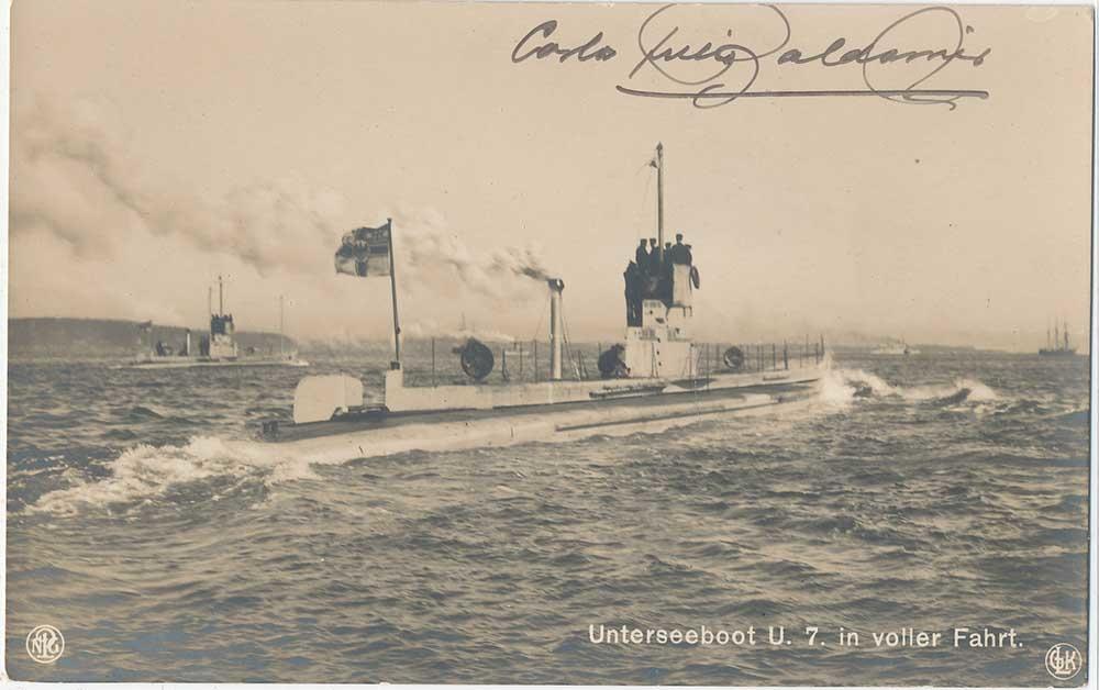 22 septembre 1914 le triplé d'Otto Weddigen  U-710