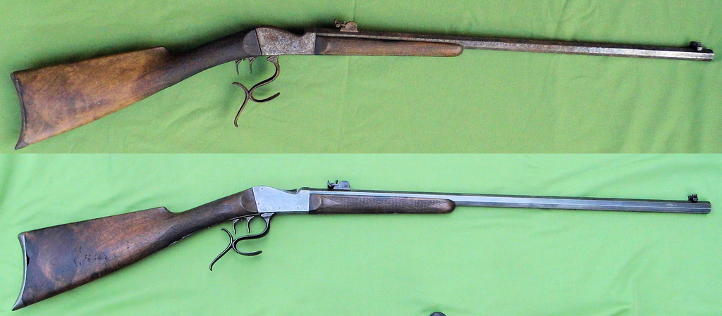 Une carabine de tir en 22lr d'origine inconnue, à restaurer. Old-ne13