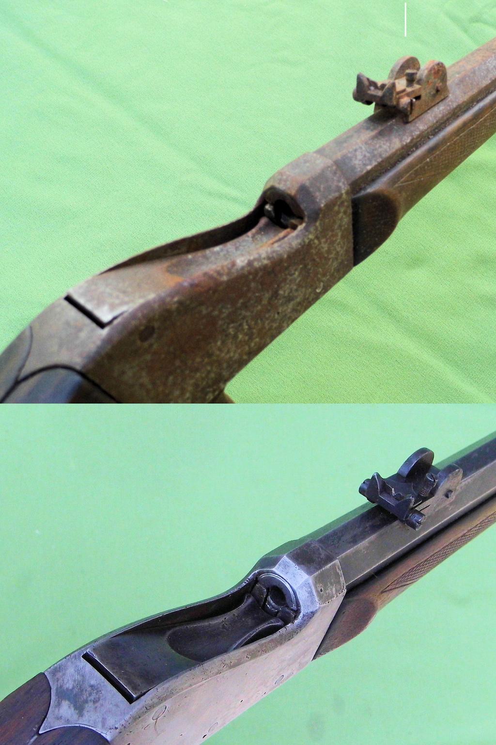 Une carabine de tir en 22lr d'origine inconnue, à restaurer. Old-ne16