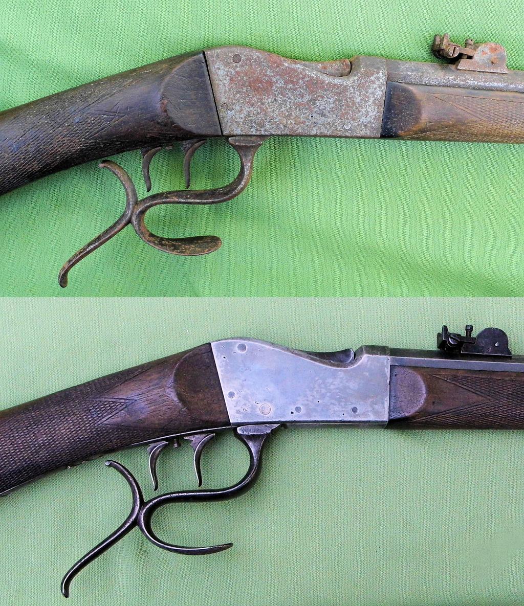 Une carabine de tir en 22lr d'origine inconnue, à restaurer. Old-ne19