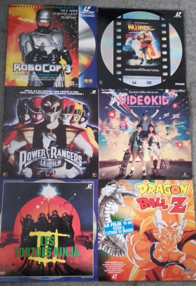 LASERDISCS SYMPAS À ÉCHANGER : VIDEO KID, DRAGON BALL Z, ROBOCOP, POWER RANGERS, RETOUR VERS LE FUTUR 2, TORTUES NINJA 20190551