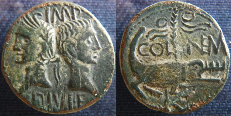 Dupondius de Nîmes fauté As_de_10