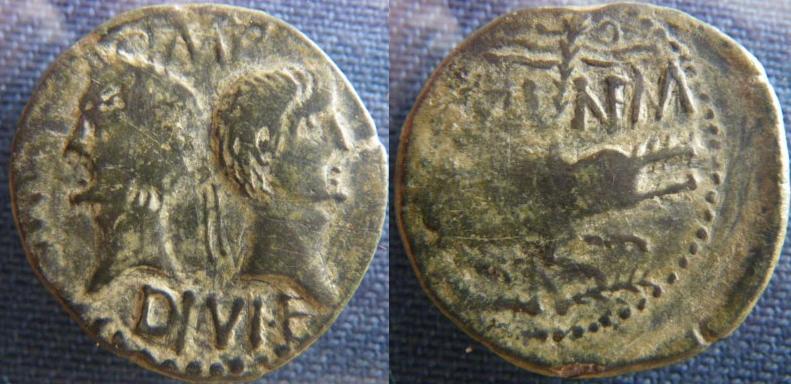 Dupondius de Nîmes fauté As_de_12