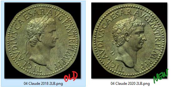 Sesterce de Claude Compar11