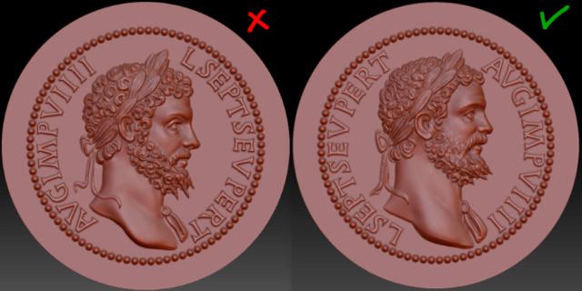 Sesterce de Septime Sévère (3D) Compar12