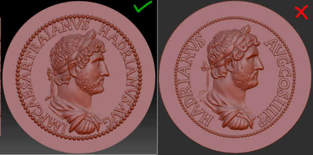 Sesterce de Septime Sévère (3D) Compar13
