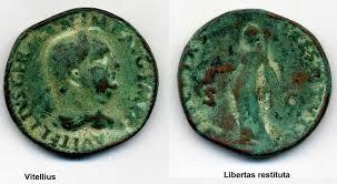 Sesterce de Vitellius à légende rare Jpl8co11