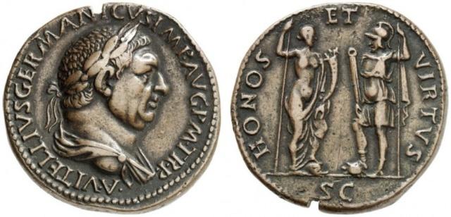 Vitellius Sesterce HONOS Normal15