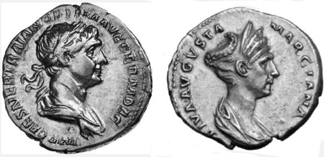 Le vrai visage des empereurs romains (reconstitution) Trajan11
