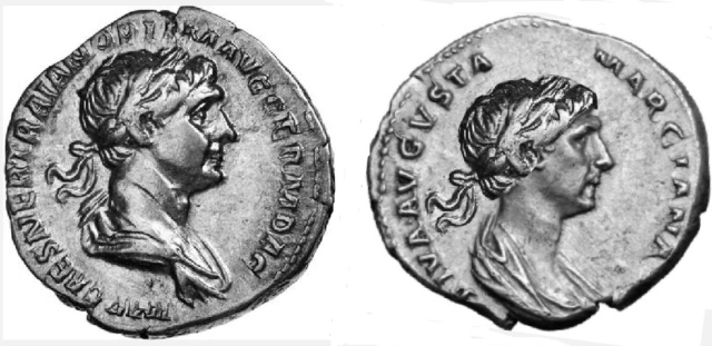 Le vrai visage des empereurs romains (reconstitution) Trajan12