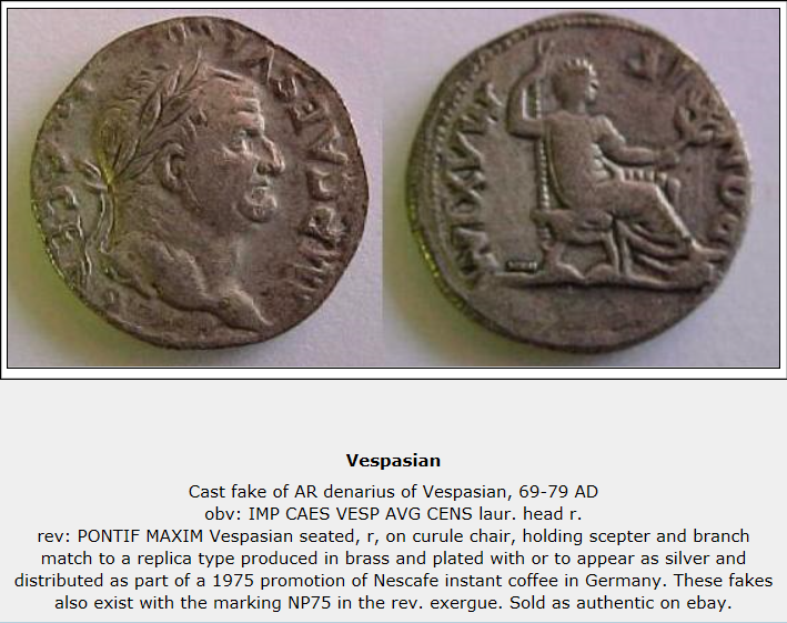 Identification d'un denier impérial Vespas10