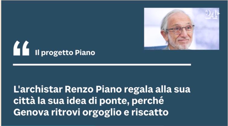 """Renzo Piano architetto del ponte """"San Giorgio"""" Foto110"""