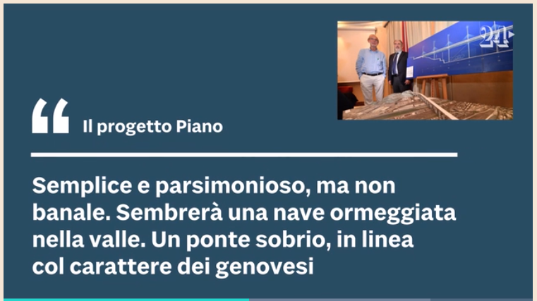 """Renzo Piano architetto del ponte """"San Giorgio"""" Foto210"""