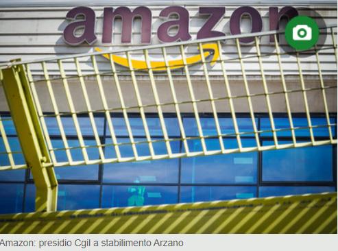 Sciopero degli addetti Amazon Immagi21