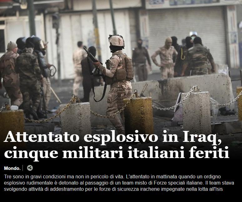 Attentato esplosivo contro militari italiani in Iraq Iraq10