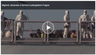 I migranti della Cigala Fulgosi sono sbarcati a Genova Nave13