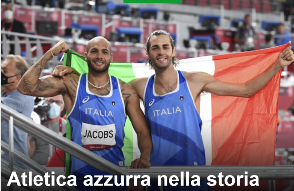 L'atletica azzurra nella storia, Jacobs e Tamberi sono d'oro Oro10