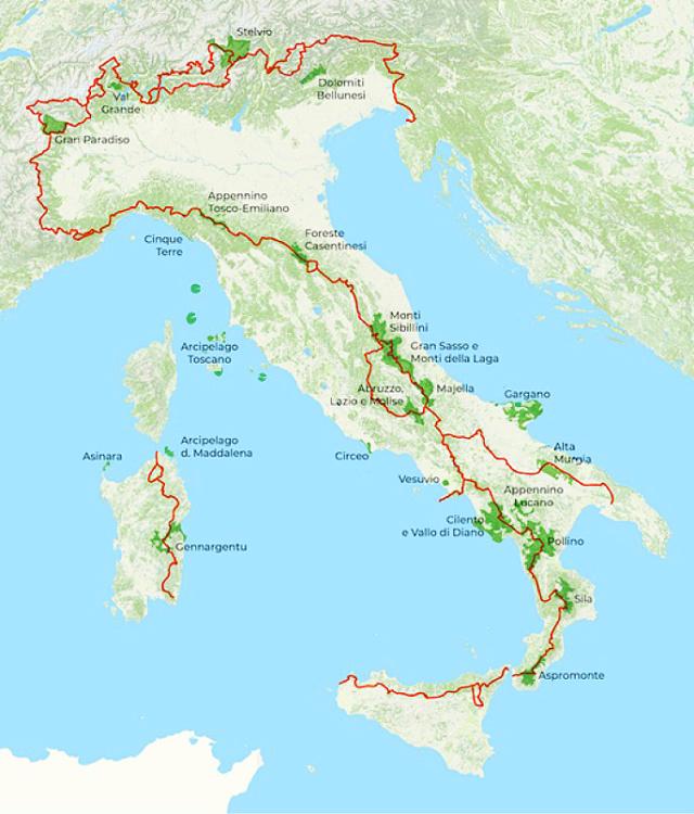 Il cammino di Santiago italiano  Parchi10