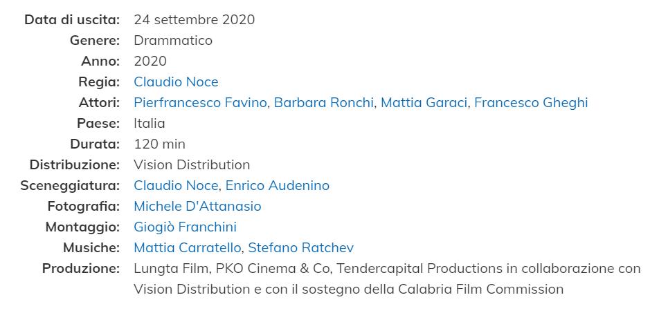 """Festival di Venezia """"Padre Nostro"""" con P.Favino Scheda10"""