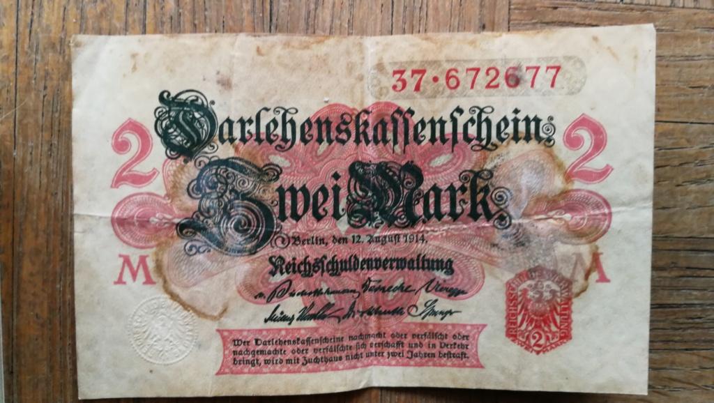 Brocante dominicale n°25: caisse Hotchkiss, plaque de ceinturon, billets .... Img_2047