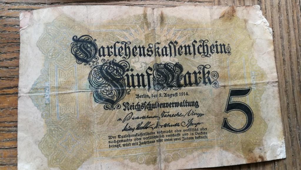 Brocante dominicale n°25: caisse Hotchkiss, plaque de ceinturon, billets .... Img_2048