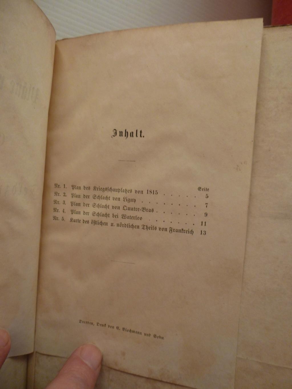 cartes officiers Jäger-bataillon N°14 batailles Ligny, Quatre-bras, Waterloo Resize38