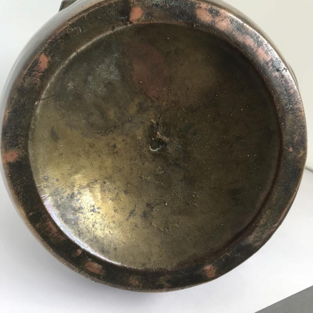 Art nouveau pottery vase signed Img_6510