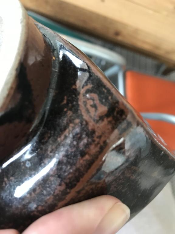 Tenmoku Glaze vase - Leach style. Img_7917